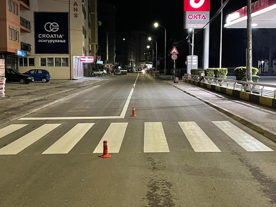 Me hapjen e sezonit të punëve, filluam me shenjëzimin horozontal të rrugëve në të gjithë qytetin e Gostivarit.