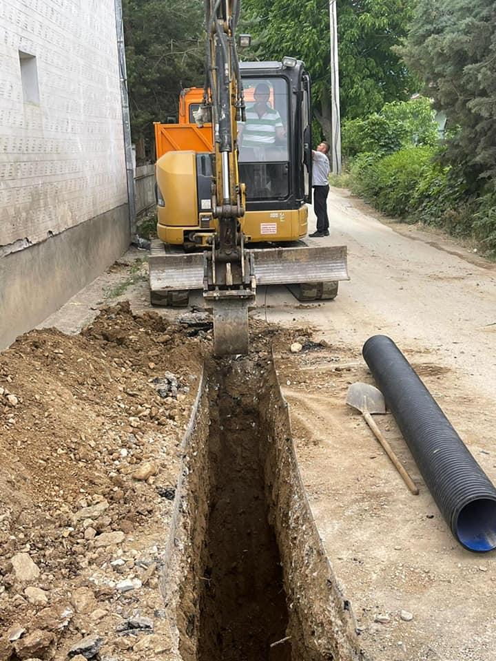 Turçan i Madh, instalim i kanalizimit në gjatësi prej 140 metrave.