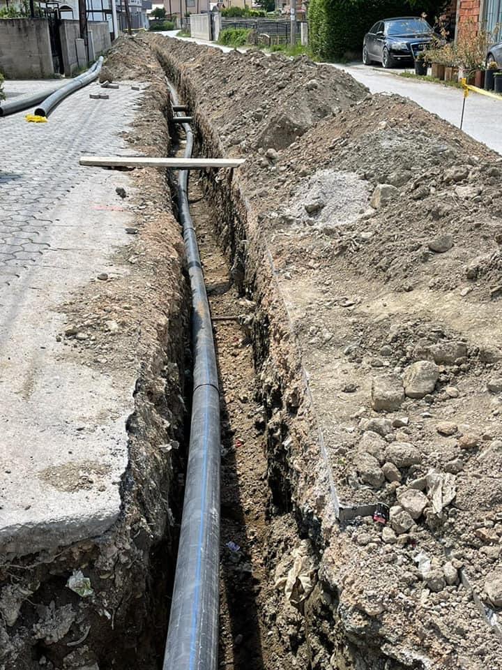 Balindoll, instalim i rrjetit të ri të ujsjellësit në gjatësi 1600 metra.