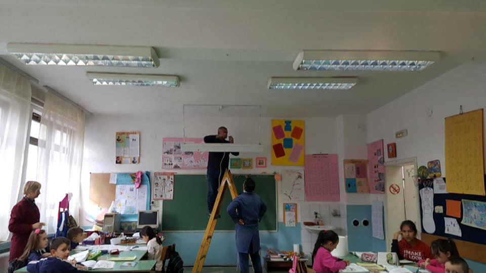 """Tullana, renovimi i tërësishem i shkollës fillore periferike """"Bashkimi""""."""