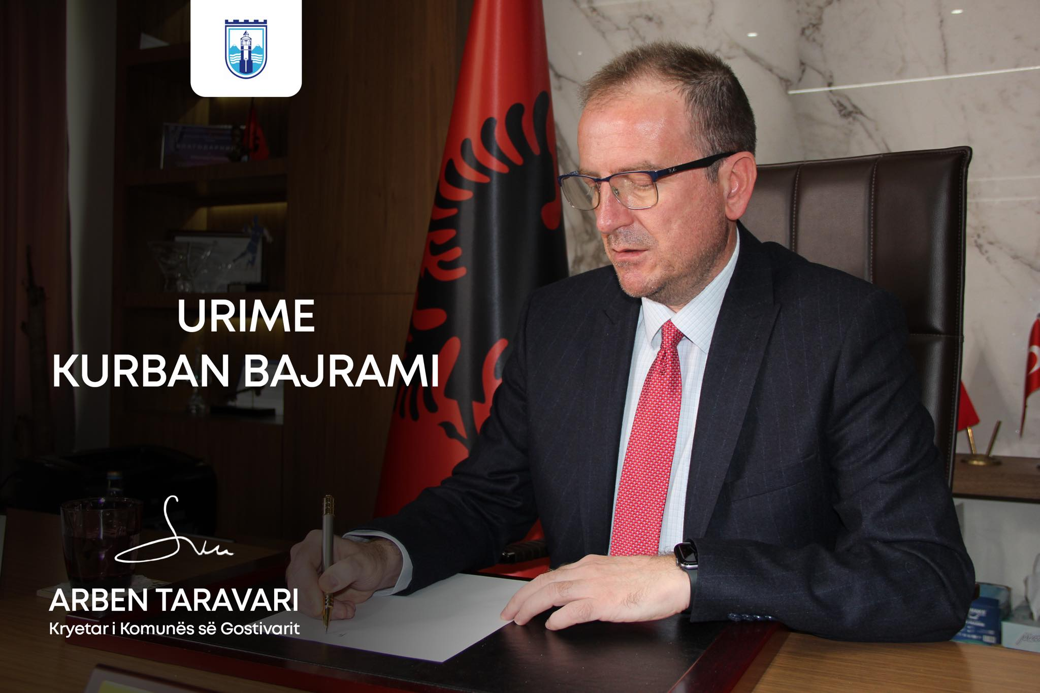 Честитка на градоначалникот Арбен Таравари по повод Курбан Бајрам